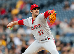 Jun 15, 2018; Pittsburgh, PA, USA; Cincinnati Reds starting pitcher Matt Harvey (32) throws a pitch during the first inning against the Pittsburgh Pirates at PNC Park. Mandatory Credit: Ben Queen-USA TODAY Sports