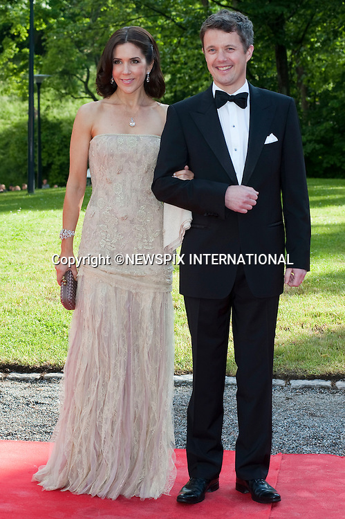 """CROWN PRINCESS MARY and CROWN PRINCE FREDERIK.Pre-Wedding Dinner hosted by the Government of Sweden in honour of H.R.H Crown Princess Victoria and Mr Daniel Westling at Eric Ericsonhallen was attended by Royalty from all over the world. Stockholm_18/06/2010..Mandatory Photo Credit: ©Dias/Newspix International..**ALL FEES PAYABLE TO: """"NEWSPIX INTERNATIONAL""""**..PHOTO CREDIT MANDATORY!!: NEWSPIX INTERNATIONAL(Failure to credit will incur a surcharge of 100% of reproduction fees)..IMMEDIATE CONFIRMATION OF USAGE REQUIRED:.Newspix International, 31 Chinnery Hill, Bishop's Stortford, ENGLAND CM23 3PS.Tel:+441279 324672  ; Fax: +441279656877.Mobile:  0777568 1153.e-mail: info@newspixinternational.co.uk"""