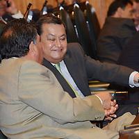 Toluca, México.- Alberto Hernández durante la primera sesión deliberativa del quinto periodo ordinario de sesiones de la LVIII Legislatura local. Agencia MVT / José Hernández