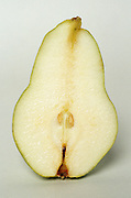 Pear sliced down the middle