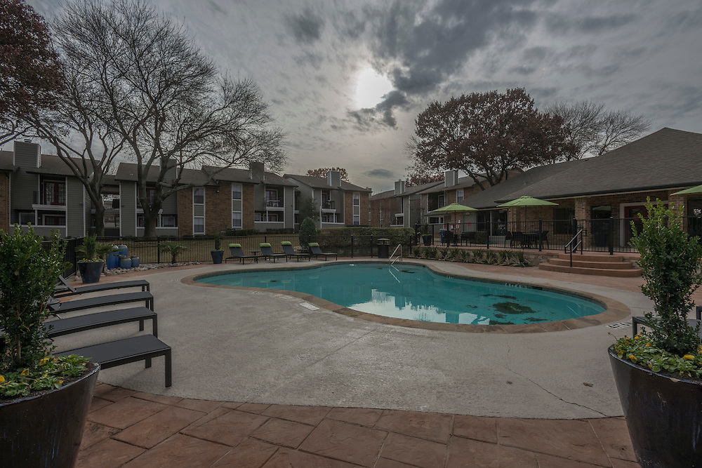 Post-renovation photographs of the Fossil Hill Apartments in Halton, Texas, a northern suburb of Fort Worth, Texas, for Dayrise