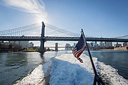 Onboard the East River Ferry, sailing from Downtown Manhattan to DUMBO, Williamsburg, Greenpoint and Hunters Point