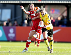 Georgia Evans of Bristol City Women battles with Maddy Cusak of Aston Villa Ladies - Mandatory by-line: Robbie Stephenson/JMP - 02/01/2012 - FOOTBALL - Stoke Gifford Stadium - Bristol, England - Bristol City Women v Aston Villa Ladies - FA Women's Super League 2