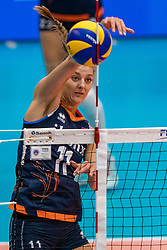02-08-2019 ITA: FIVB Tokyo Volleyball Qualification 2019 / Belgium - Netherlands, Catania<br /> 1e match pool F in hall Pala Catania between Belgium - Netherlands / Anne Buijs #11 of Netherlands
