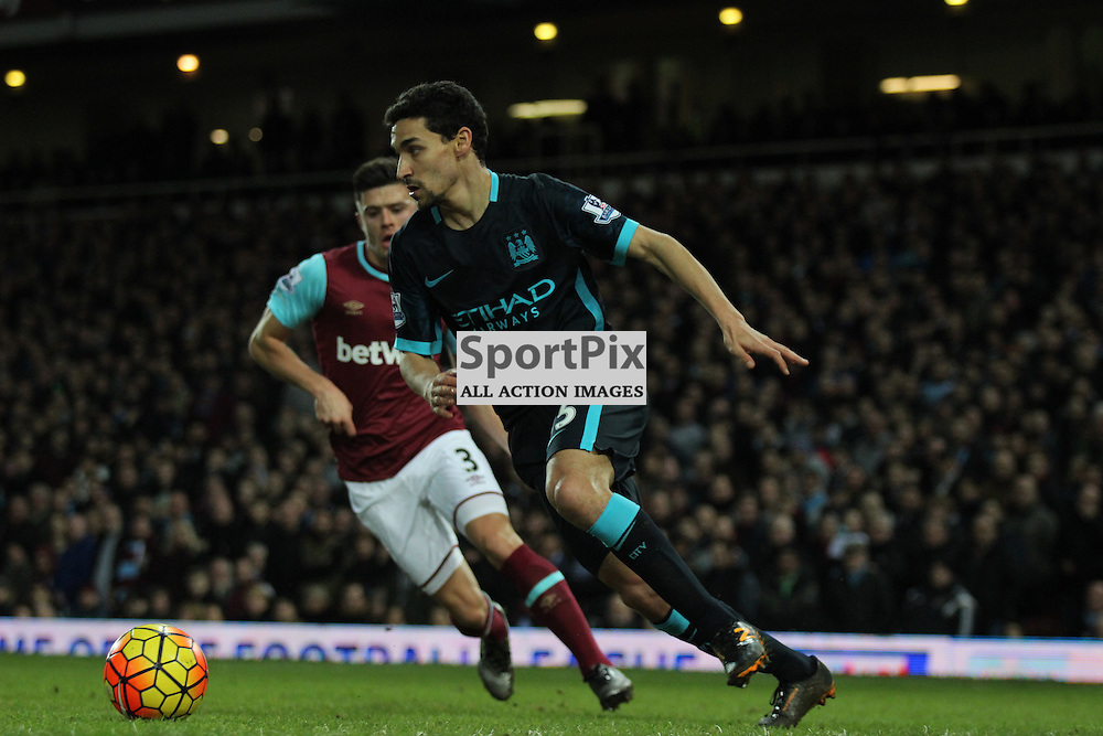 Jesus Navas of Manchester City on the ball during the Barclays Premier League game against West Ham United. (c) Joshua Smith | SportPix.org.uk