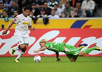 Fotball<br /> Tyskland<br /> 19.08.2011<br /> Foto: Witters/Digitalsport<br /> NORWAY ONLY<br /> <br /> Szene zum 1:1 Tor v.l. Raul Bobadilla, Simon Kjær (Wolfsburg)<br /> <br /> Bundesliga; Borussia Mönchengladbach - VfL Wolfsburg