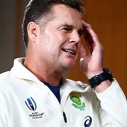 Rassie Erasmus (Head Coach) of South Africa