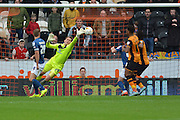 Tomasz Kuszczak of Birmingham city  makes save during the Sky Bet Championship match between Hull City and Birmingham City at the KC Stadium, Kingston upon Hull, England on 24 October 2015. Photo by Ian Lyall.