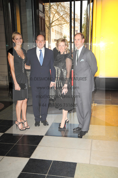 Left to right, CHARLENE WITTSTOCK, His Serene Highness PRINCE ALBERT OF MONACO and TRH the EARL & COUNTESS OF WESSEX and  at the opening of the Victoria & Albert Museum's latest exhibition 'Grace Kelly: Style Icon' opened by His Serene Highness Prince Albert of Monaco at the V&A on 15th April 2010.