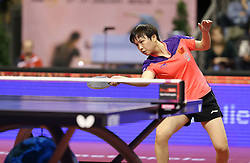 31.01.2016, Max Schmeling Halle, Berlin, GER, German Open 2016, im Bild Limei Hu (CHN) bei der Ballannahme // during the table Tennis 2016 German Open at the Max Schmeling Halle in Berlin, Germany on 2016/01/31. EXPA Pictures © 2016, PhotoCredit: EXPA/ Eibner-Pressefoto/ Wuest<br /> <br /> *****ATTENTION - OUT of GER*****