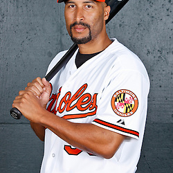 February 26, 2011; Sarasota, FL, USA; Baltimore Orioles outfielder Randy Winn (39) poses during photo day at Ed Smith Stadium.  Mandatory Credit: Derick E. Hingle