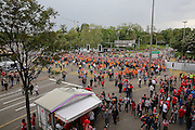 Liverpool fans queuing up to enter the stadium before the Europa League Final match between Liverpool and Sevilla at St Jakob-Park, Basel, Switzerland on 18 May 2016. Photo by Phil Duncan.
