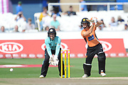 Paige Scholfield of Southern Vipers batting during the Women's Cricket Super League match between Southern Vipers and Surrey Stars at the 1st Central County Ground, Hove, United Kingdom on 14 August 2018.