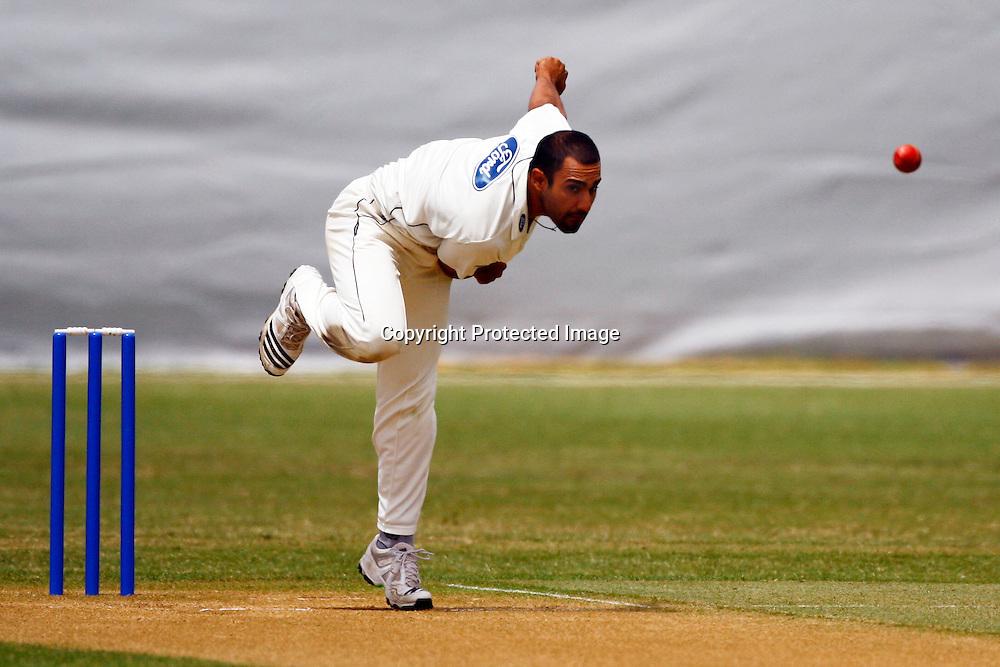 Ravi Bopara in action, Plunket Shield cricket, Auckland Aces v Otago Volts. Colin Maiden Park, Auckland. 15 December 2009. Photo: William Booth/PHOTOSPORT