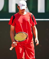 04.08.2010, Sportpark, Kitzbühel, AUT, ATP Challenger, Austrian Open 2010, im Bild Dominic THIEM (AUT) enttäuscht, EXPA Pictures © 2010, PhotoCredit: EXPA/ J. Feichter