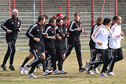 06.03.2011, Trainingsgelaende, Muenchen, GER, 1.FBL, Training FC Bayern Muenchen , im Bild  Joerg Butt (Bayern #1) Philipp Lahm (Bayern #21) , EXPA Pictures © 2011, PhotoCredit: EXPA/ nph/  Straubmeier       ****** out of GER / SWE / CRO  / BEL ******