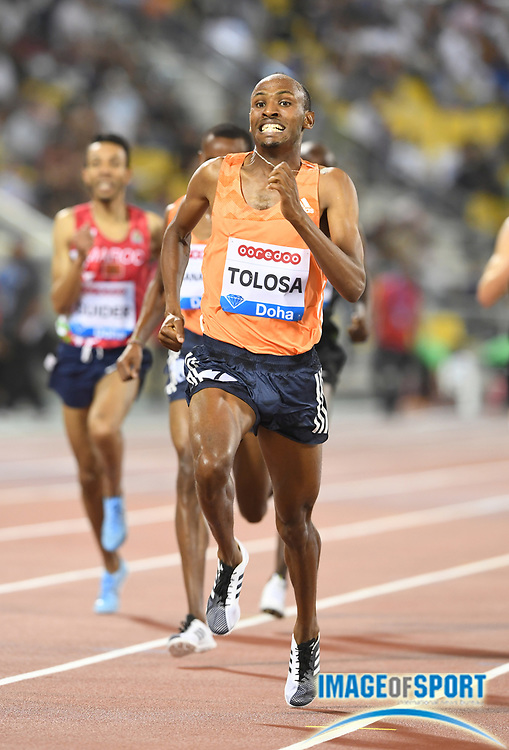 Taresa Tolosa (ETH) wins the 1,500m in 3:35.07 in the 2018 IAAF Doha Diamond League meeting at Suhaim Bin Hamad Stadium in Doha, Qatar, Friday, May 4, 2018. (Jiro Mochizuki/Image of Sport)