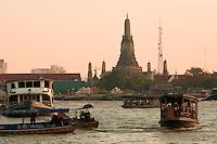 Thailand, Asia Wat Arun , the temple of dawn , Chao Phraya river , Bangkok , Thailand Image by Andres Morya