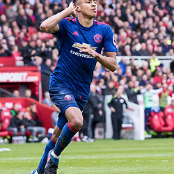 Goalscorer Jesse Lingard of Manchester United celebrates his goal.Middlesborough v Manchester United, Barclays English Premier League, 19th March 2017. (c) Paul Cram | SportPix