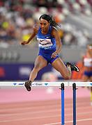 Dalilah Muhammad (USA) wins the women's 400m hurdles  in 53.61 during the IAAF Doha Diamond League 2019 at Khalifa International Stadium, Friday, May 3, 2019, in Doha, Qatar (Jiro Mochizuki/Image of Sport)