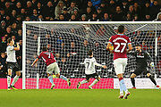 Aston Villa midfielder JohnMcGinn (7) heads a goal, 1-0 during the EFL Sky Bet Championship match between Derby County and Aston Villa at the Pride Park, Derby, England on 10 November 2018.
