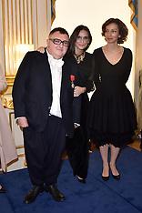 Paris - Former Lanvin Designer Alber Elbaz Receives Legion D'Honneur - 03 Oct 2016