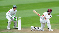 Somerset's Marcus Trescothick sweeps the ball - Photo mandatory by-line: Harry Trump/JMP - Mobile: 07966 386802 - 21/08/15 - SPORT - CRICKET - LV County Championship Division One - Day One - Somerset v Worcestershire - The County Ground, Taunton, England.