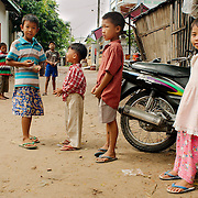 Children in the streets of Mandalay