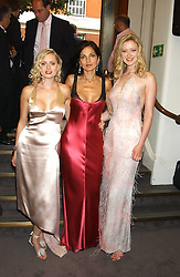 Left to right, ANOUSKA DE GEORGIOU, YASMIN MILLS and  SIOBHAN HEWLETT at a charity event 'In The Pink' a night of music and fashion in aid of the Breast Cancer Haven in association with fashion designer Catherine Walker held at the Cadogan Hall, Sloane Terrace, London on 20th June 2005.<br /><br />NON EXCLUSIVE - WORLD RIGHTS