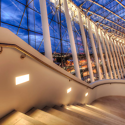 Photos taken for ELP Lighting of their fixtures installed in Brandmeyer Hall in Kansas City's Kauffman Center for the Performing Arts.