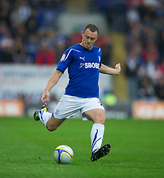 CARDIFF, WALES - Tuesday, May 17, 2011: Cardiff City's Darcy Blake in action against Reading during the Football League Championship Play-Off Semi-Final 2nd Leg match at the Cardiff City Stadium. (Photo by David Rawcliffe/Propaganda)