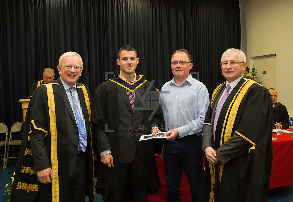 18.11.2016       <br /> Speaking at conferring ceremonies in Thurles, the President of Limerick Institute of Technology (LIT) has welcomed the publication of the Financial Review of the Institutes of Technology and called for the immediate implementation of actions to support the Technological Education sector. <br /> <br /> BSc (Honours) in Sports Strength and Conditioning  graduate Liam Maher receives A Special Merit Award for excellence from  in the presence of Prof. Vincent Cunnane President LIT and Mr. Simon Moroney, Governing Body LIT. Picture: Alan Place