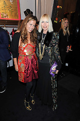 Left to right, JADE JAGGER and VIRGINIA BATES at the opening of Jade Jagger's shop at 43 All Saints Road, London W11 on 25th November 2009.