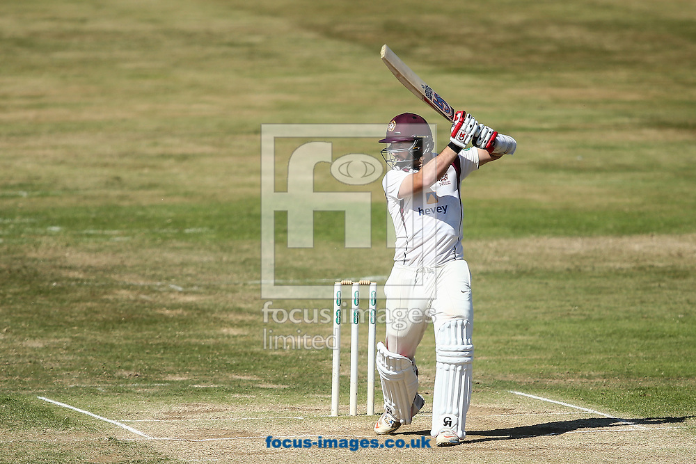 Steven Crook of Northamptonshire CCC drives during the Specsavers County C'ship Div Two match at the County Ground, Northampton<br /> Picture by Andy Kearns/Focus Images Ltd 0781 864 4264<br /> 15/08/2016