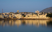 PUSHKAR, INDIA - CIRCA NOVEMBER 2016:  View of the Pushkar Lake