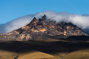 Sincholagua Volcano<br /> Andes<br /> ECUADOR, South America<br /> 4,873 meters above sea level<br /> 15,988 feet<br /> Sincholagua is an inactive stratovolcano