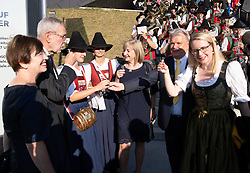 04.07.2019, Festspielhaus, Erl, AUT, Tiroler Festspiele Erl, Eröffnung der Sommersaison 2019/20, im Bild v.l. Doris Schmidauer, Bundespräsident Alexander Van der Bellen, Landesrätin Beate Palfrader, Festspielpräsident Hans Peter Haselsteiner, Margarete Schramböck // f.l. Doris Schmidauer federal president of Austria Alexander Van der Bellen Beate Palfrader Festival President Hans Peter Haselsteiner Margarete Schramböck during the Tyrolean festival Erl opening of the summer season 2019/20 at the Festspielhaus in Erl, Austria on 2019/07/04. EXPA Pictures © 2019, PhotoCredit: EXPA/ Johann Groder