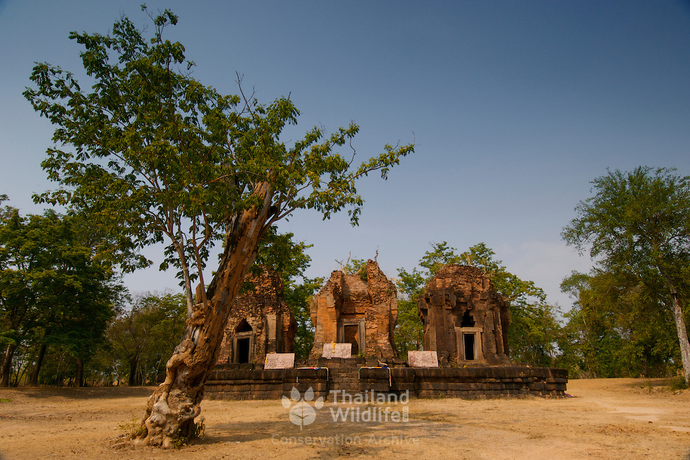 Prasat Prang Ku khmer sanctuary at Sisaket Province in Thailand. The site was built around a thousand year ago.