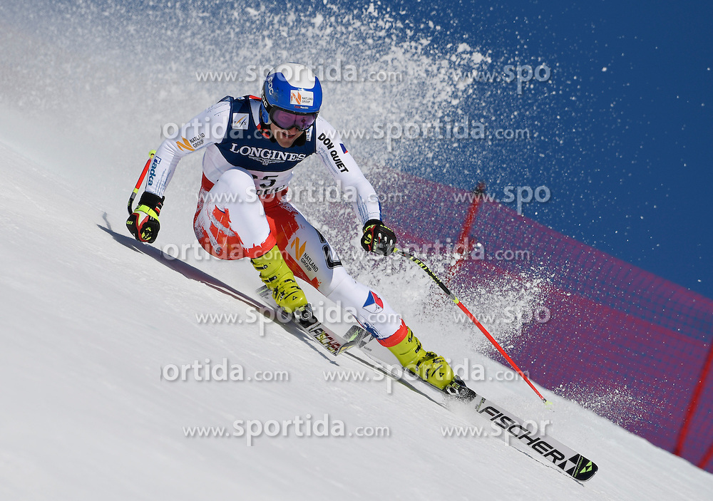 13.02.2017, St. Moritz, SUI, FIS Weltmeisterschaften Ski Alpin, St. Moritz 2017, alpine Kombination, Herren, Abfahrt, im Bild Krystof Kryzl (CZE) // Krystof Kryzl of Czech Republic in action during his run of downhill for the men's Alpine combination of the FIS Ski World Championships 2017. St. Moritz, Switzerland on 2017/02/13. EXPA Pictures &copy; 2017, PhotoCredit: EXPA/ Sammy Minkoff<br /> <br /> *****ATTENTION - OUT of GER*****