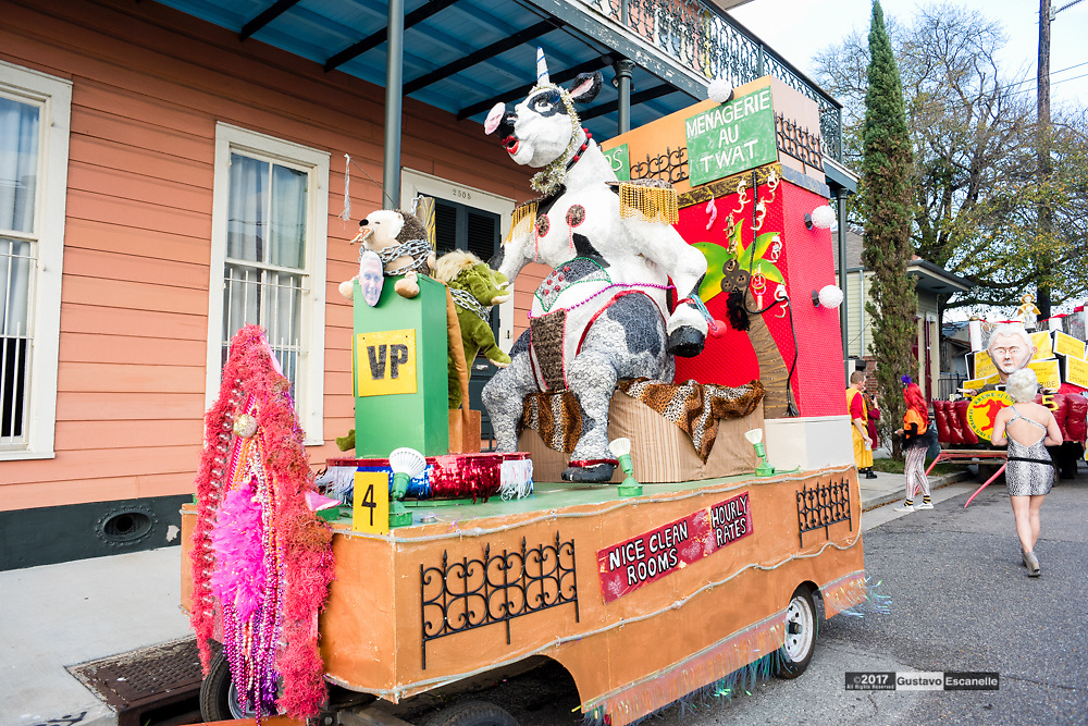 Krewe Du Vieux 2017 with Krewe Du Lewd Rolls through the Marigny, French Quarter to the Civic Center on Saturday, February 11, 2017<br /> #kreweDuVieux #mardigras2017#KreweDuLewd