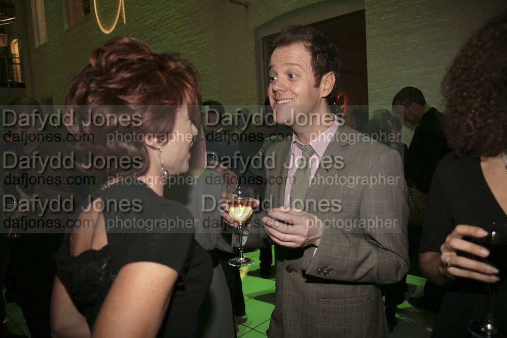 Kathy Lette and Johnnie Harvey , Colman Getty's 20th Birthday party. The Imagination Gallery. Store St. London W1. 17 January 2006.  -DO NOT ARCHIVE-© Copyright Photograph by Dafydd Jones. 248 Clapham Rd. London SW9 0PZ. Tel 0207 820 0771. www.dafjones.com.