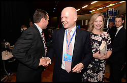 Image ©Licensed to i-Images Picture Agency. 28/09/2014. Birmingham, United Kingdom. Leader of the House of Commons William Hague and his wife Ffion after his last speech to the  Conservative Party Conference.Picture by Andrew Parsons / i-Images