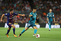 August 13, 2017 - Barcelona, Spain - Marco Asensio of Real Madrid during the Spanish Super Cup football match between FC Barcelona and Real Madrid on August 13, 2017 at Camp Nou stadium in Barcelona, Spain. (Credit Image: © Manuel Blondeau via ZUMA Wire)
