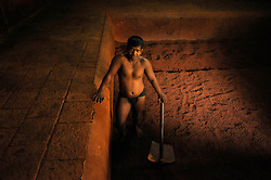 Kushti talim in Kolhapur in the state of Maharashtra in India..(Photo by Ami Vitale)