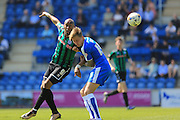 Calvin Andrew during the Sky Bet League 1 match between Colchester United and Rochdale at the Weston Homes Community Stadium, Colchester, England on 8 May 2016. Photo by Daniel Youngs.