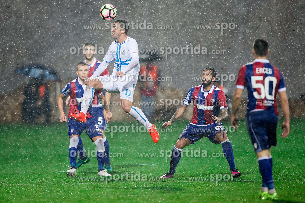 Mario Gavranovic of HNK Rijeka during football match between HNK Rijeka and HNK Hajduk Split in Round #15 of 1st HNL League 2016/17, on November 5, 2016 in Rujevica stadium, Rijeka, Croatia. Photo by Vid Ponikvar / Sportida