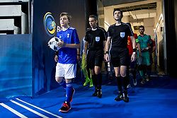 Ballboy during futsal match between Spain and France at Day 2 of UEFA Futsal EURO 2018, on January 31, 2018 in Arena Stozice, Ljubljana, Slovenia. Photo by Urban Urbanc / Sportida