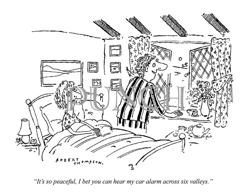 """It's so peaceful, I bet you can hear my car alarm across six valleys."""