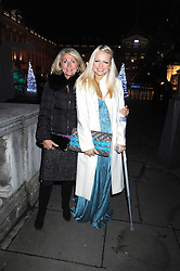 Left to right, VICKI SANDLING and her daughter tv presenter HANNAH SANDLING at the opening of the Somerset House ice Rink for 2008 sponsored by Tiffany & Co held at Somerset House, The Strand, London on 18th November 2008.