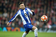FC Porto defender Alex Telles (13) during the Champions League Quarter-Final Leg 1 of 2 match between Liverpool and FC Porto at Anfield, Liverpool, England on 9 April 2019.